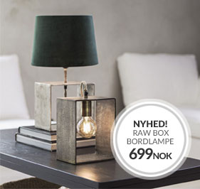 Nyhed fra PR Home Raw Box Bordlampe