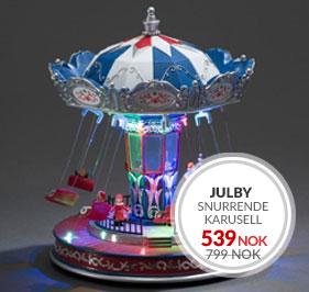 Juleby Snurrende Karusell fra Konstsmide