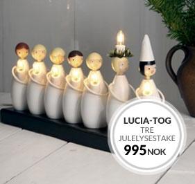 Lucia-tog Tre Adventslysestake fra Star Trading