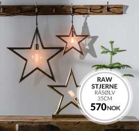 RAW STAR RÅ SØLV 60CM JULESTJERNE