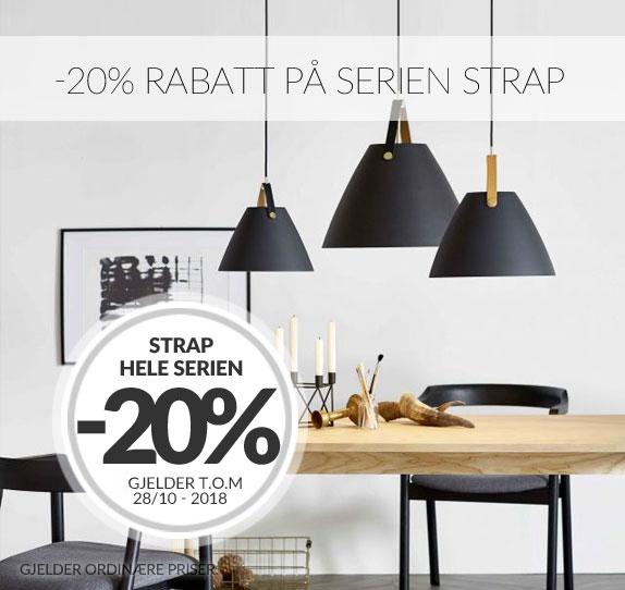 -20% rabatt på Strap från Nordlux