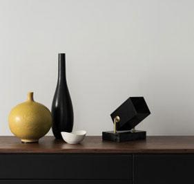 Box Floor spotligt Svart og Hvit med Marmor Hanna Wessman Design for Watt&Veke
