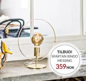 Bordlampen Spartan Ringo i Messing nå endest 359 NOK til kampanje