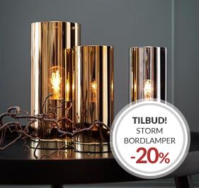 Kampanje Storm Bordlampe 20% Rabatt