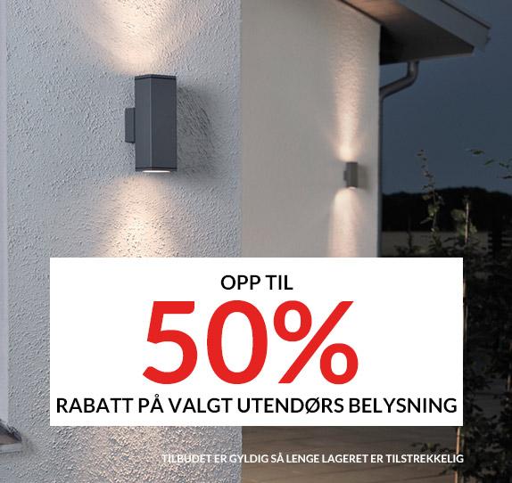 Salg Utelamper 50%